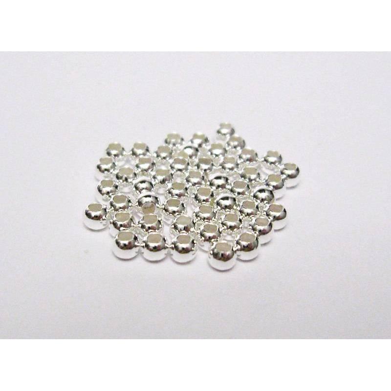 50 Perlen 1,8 mm aus 925er Sterling Silber Bild 1