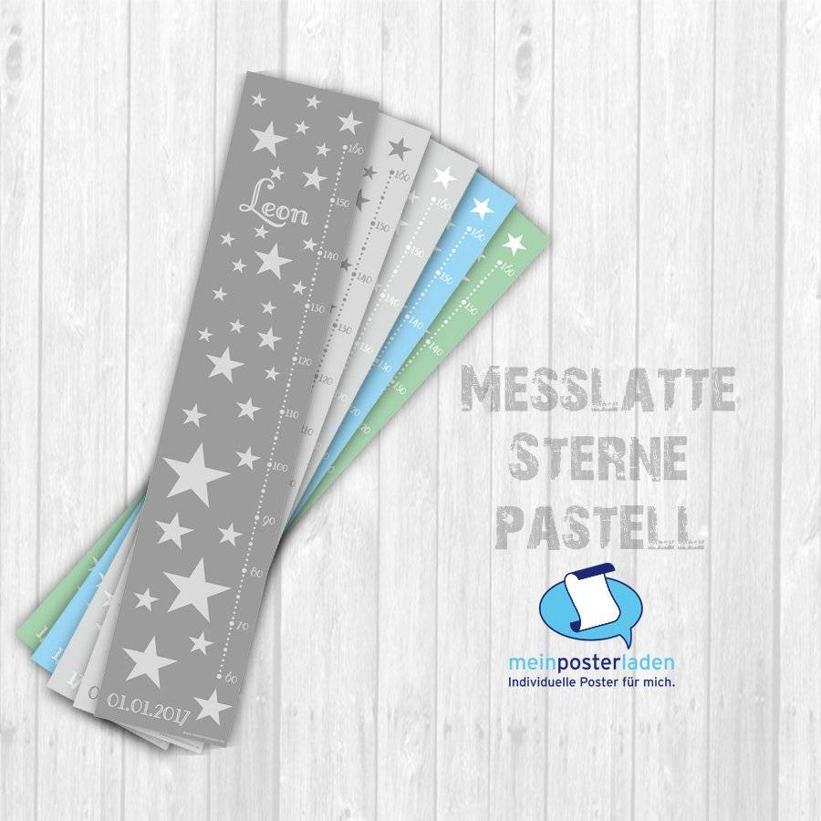 Messlatte: Sterne pastell - optional selbstklebend Bild 1