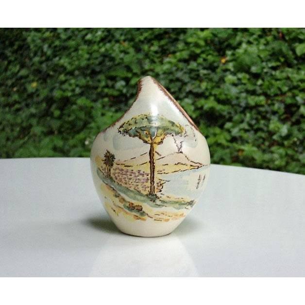 Vase, Limburg Dom Keramik, 50er, Vintage, Vase mit Henkel, kleine Vase, mit Malerei, Urlaubsmotiv, Blumenvase, Mid Century Bild 1