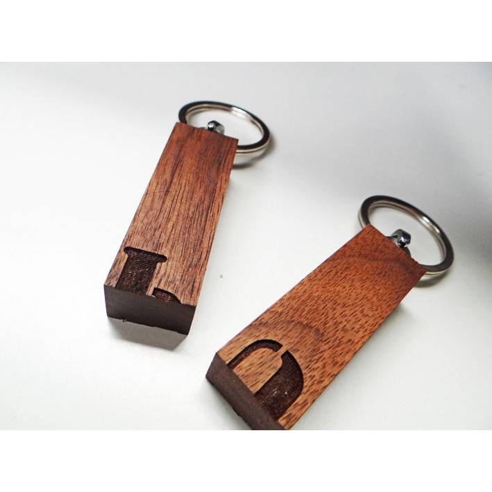 """Holz Schlüsselanhänger """"Puzzle"""" Initialen - Paarschlüsselanhänger, Paaranhänger Bild 1"""