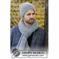 Herrenmütze mit passendem Schal, dicke Wollmütze, handgestrickte Mütze, Bild 1