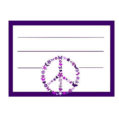 10 Aufkleber für die Schule Peace Bild 1