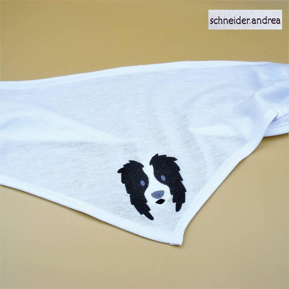 besticktes Hunde - Halstuch BORDER COLLIE Bild 1