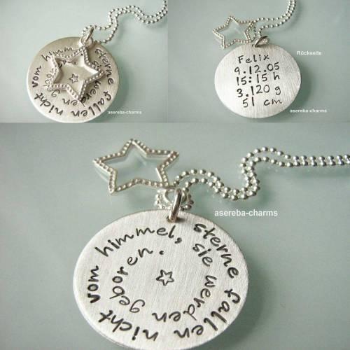 Sterne fallen nicht vom Himmel, sie werden geboren... das perfekte Geschenk für die Mami zur Geburt (mit den Geburtsdaten des Kindes)