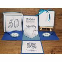 Geldgeschenk / Explosionsbox 50.Geburtstag, Geburtstagsgeschenk, Geschenkbox Bild 1