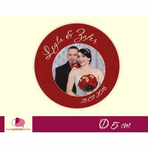 Hochzeitsaufkleber | personaliserbar mit eigenem Foto