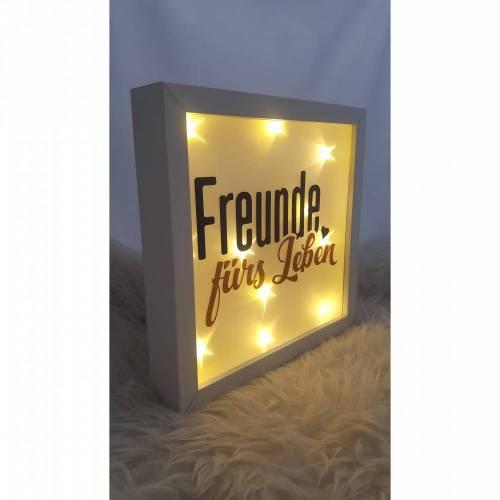 """Leuchtrahmen """"Freunde"""" Freundschaft"""