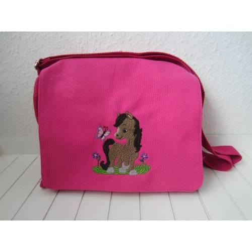 Kindergartentasche - pink - Pferd