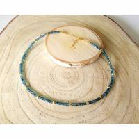 Topas Halskette / Collier. Tief himmelblaue Topassteine. Echte Natürliche Edelstein - Handarbeit - Fair Trade Bild 1