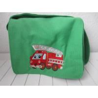 Kindergartentasche - grün - Feuerwehr Bild 1