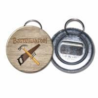 Flaschenöffner, Kronkorkenöffner, Kapselheber mit Schlüsselring, personalisiert Bild 1