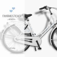 """Fahrradtattoos Fahrradsticker, Aufkleber  """"Herzen"""" 144-teilig, wasserfest Bild 1"""