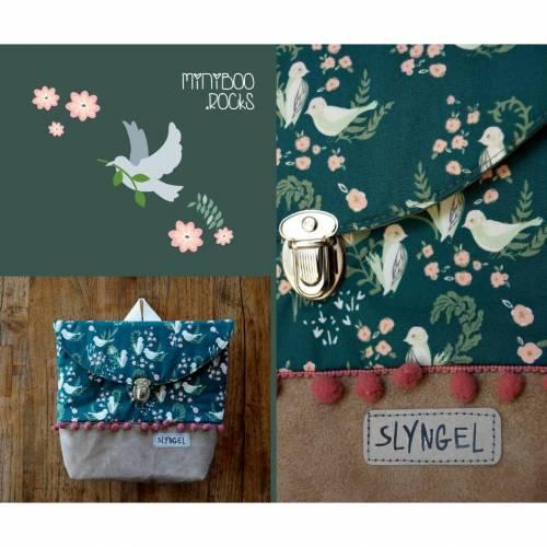 Kinderrucksack mit Namen, Kindergartenrucksack, Kindergartentasche, Geschenke für Mädchen, Rucksack mit süßen Vögeln und Blumen
