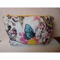 Strickbeutel, Projekttasche, Windeltasche, Stricktasche, Kosmetiktasche, mit Reißverschluß, Clutch Bild 1