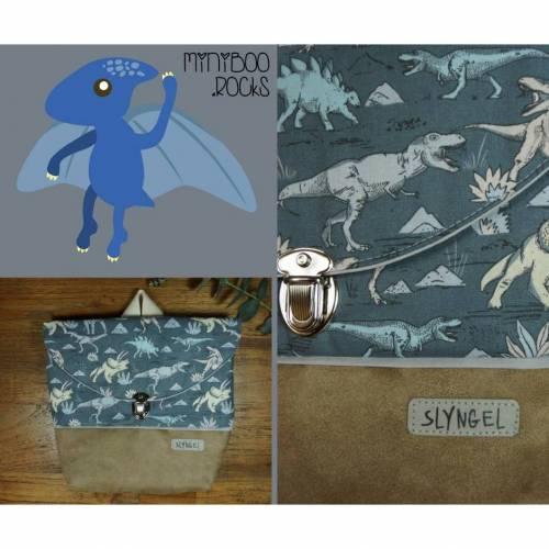Kinderrucksack mit Namen, Kindergartenrucksack, Kindergartentasche, Geschenk für Jungen, Rucksack mit Dinosaurier, Dinos zum Geburtstag