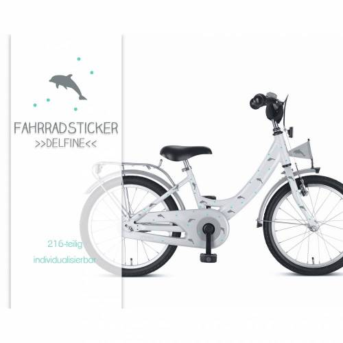 "Fahrradsticker Fahrradtattoos ""Delfine"" Fahrradaufkleber wasserfest"