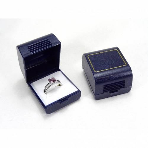 12 Stück Schmucketui, Ringetui, dunkelblau, Etui für Ring Ohrstecker, Schachtel, Klappschachtel, Aufbewahrung Ring