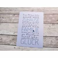 """Kunstdruck """"Zuhause-Familie-Glück"""" aus der Manufaktur Karla Bild 1"""