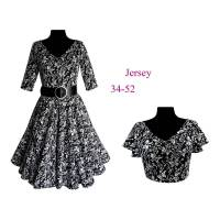 Schnittmuster + Bild-Nähanleitung Gr. 34-52 (eBook) Petticoatkleid, Jerseykleid Suzan Bild 1