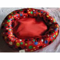 Hundebett, Hundekissen, Donut mit herausnehmbaren Innenkissen Bild 1