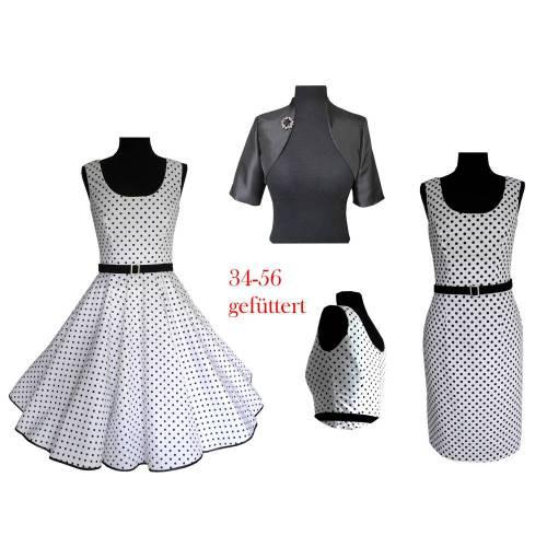 50ies Kleid 50er Jahre Kleid,Retrokleid,Vintagekleid,Kleid gro\u00dfe Gr\u00f6\u00dfen 34-56 Schnittmuster+Bild-N\u00e4hanleitung ebook Petticoatkleid Kleid
