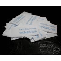 50 Textiletiketten 100% Baumwolle - blau