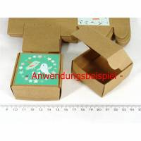15 Faltschachteln Kraftpapier Karton, Geschenkbox, 5,5x5,5cm Verpackung Schachtel, Gastgeschenk verpacken Schachtel, box craftpaper Bild 1