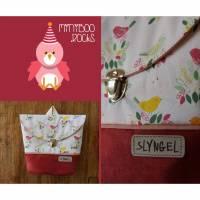 Kinderrucksack mit Namen, Kindergartenrucksack, Kindergartentasche, Geburtstagsgeschenk für Mädchen, Kinderrucksack mit Vögeln und Blumen Bild 1