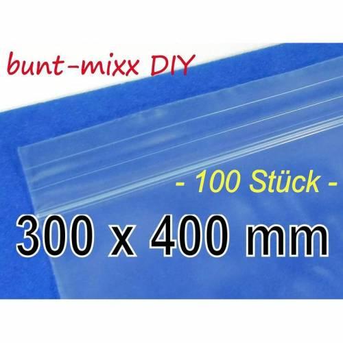 100 St. Druckverschlussbeutel 300 x 400 mm 50 my