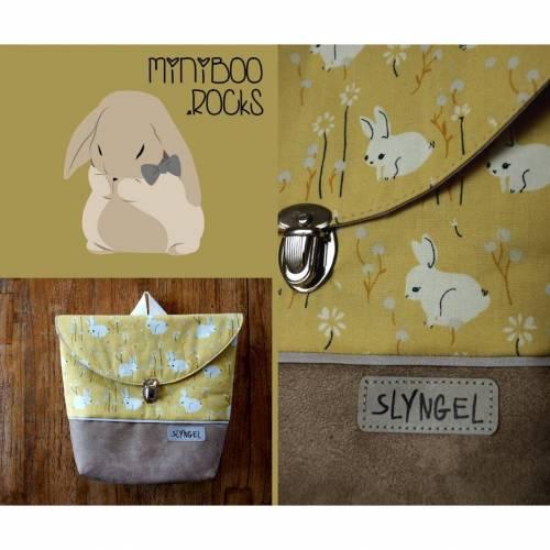 Kinderrucksack mit Namen, Kindergartenrucksack, Kindergartentasche, Geschenke für Mädchen, Rucksack mit Hasen und Blumen, personalisierbar