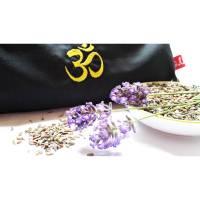 Augenkissen, Entspannung, Meditation, Wellness, Lavendel, Leinsamen, Wellbeing, OM, Stickerei XL Bild 1