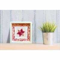 Romantische Kirschblüten // 3D-Bild aus Origami im Objektrahmen Bild 1