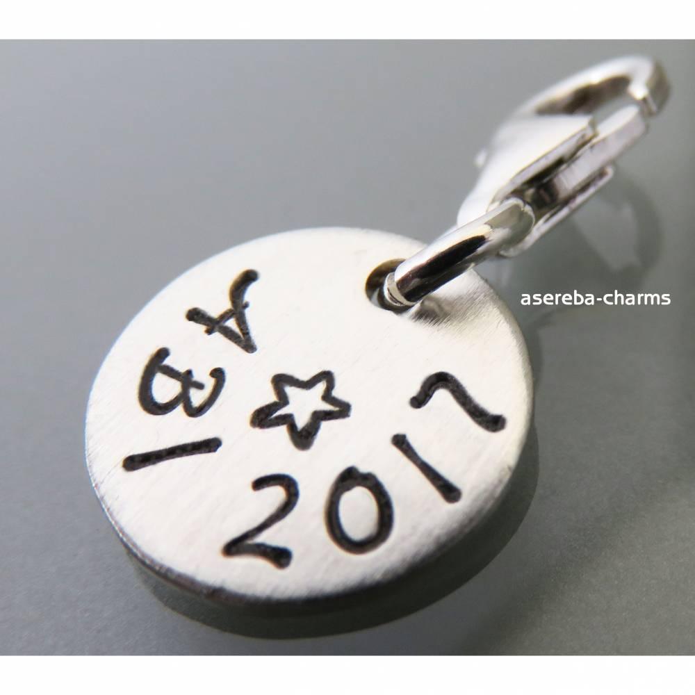 ABI-Schmuck + gewünschte Jahreszahl mit Gravur - z.B. Name auf der Rückseite Bild 1