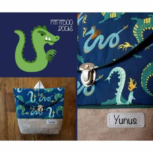 Kinderrucksack mit Namen, Kindergartenrucksack, Kindergartentasche, Geburtstagsgeschenk für Jungen, Kinderrucksack mit Drachen, Ritterwelt