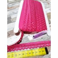 Elastische Spitze fuchsia pink Spitzenborde Band Bild 1