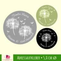 30 Adressaufkleber | Pusteblume - rund 5 cm Ø Bild 1