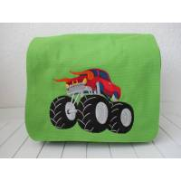 Kindergartentasche -grün - Monstertruck Bild 1
