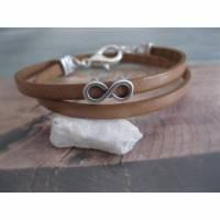 Zartes Lederarmband- Wickelarmband Unendlichkeit, Infinity Bild 1