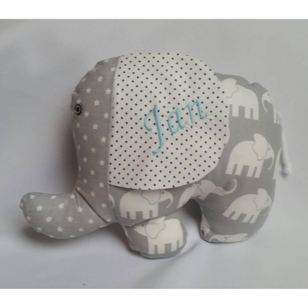Elefantenkissen mit Namen Bild 1