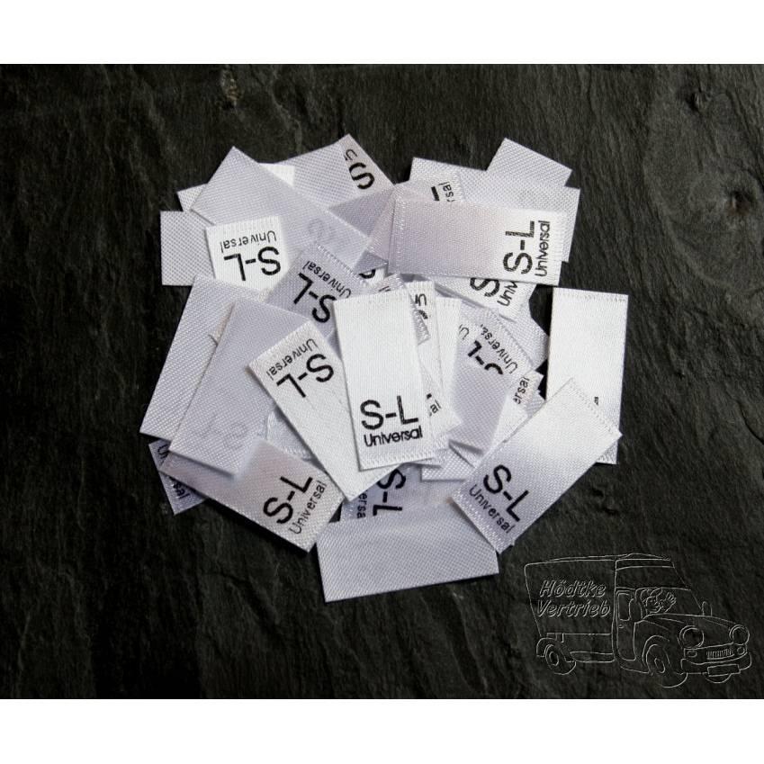 25 Textiletiketten Größe S-L  universal Bild 1