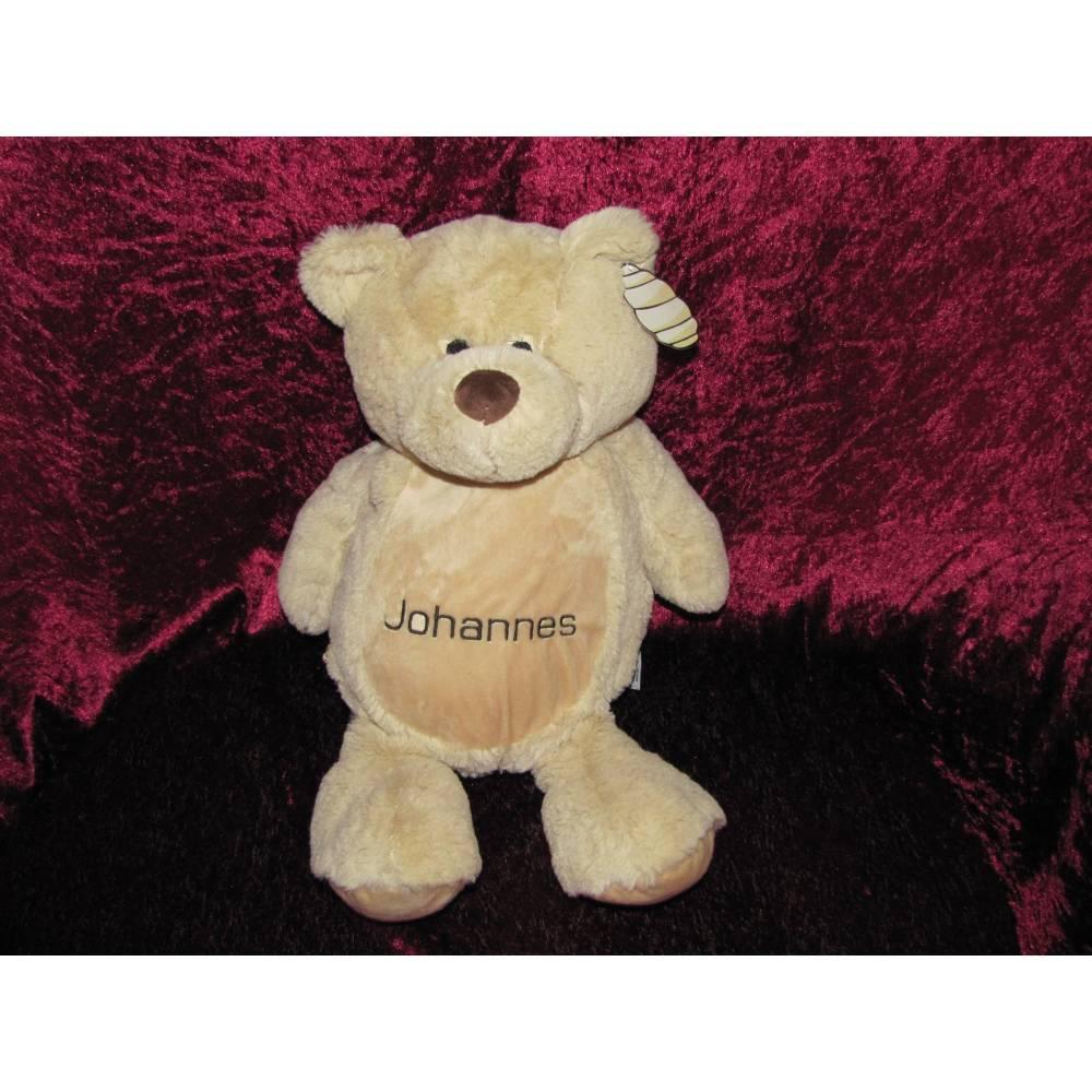 Teddybär mit Namen bestickt, Teddy, Kuscheltier, Bild 1