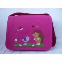 Kindergartentasche - pink - Igel und Piep Bild 1