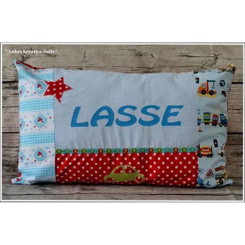 Kissen Namenskissen für Jungen Geburtstag Geschenk Geburt Taufe Weihnachten Kinderzimmer