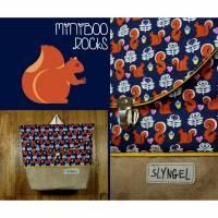 Kinderrucksack mit Namen, Kindergartenrucksack, Kindergartentasche, Geschenk für Jungen, Kinderrucksack mit Eichhörnchen, personalisierbar Bild 1