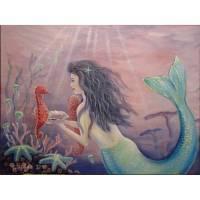 "Acrylgemälde ""Mermaids Friends"" - Meerjungfrau Gemalt Nixe Kunst Acryl Original Bild 80cmx60cm Bild 1"