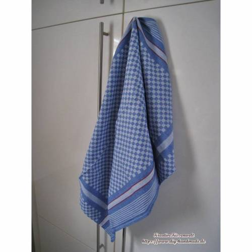 Omas Küchen Handtuch 89 x 52cm, Vintage robustes Handtuch,  Aussteuer Geschirrtuch, neu&unbenutzt