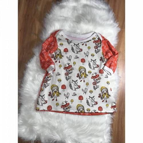 Kleid Schlupfkleid Gr.74 Senfkäppchen Tidöblomma