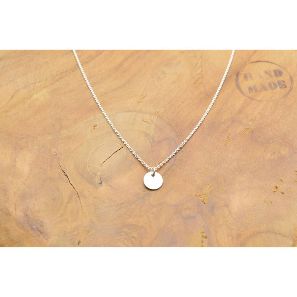 925 Sterling Silber Kette mit mini Plättchen Bild 1