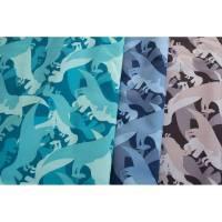 16,50 Euro/m Nano Softshell Sheldon, Dinosaurier, blau Bild 1