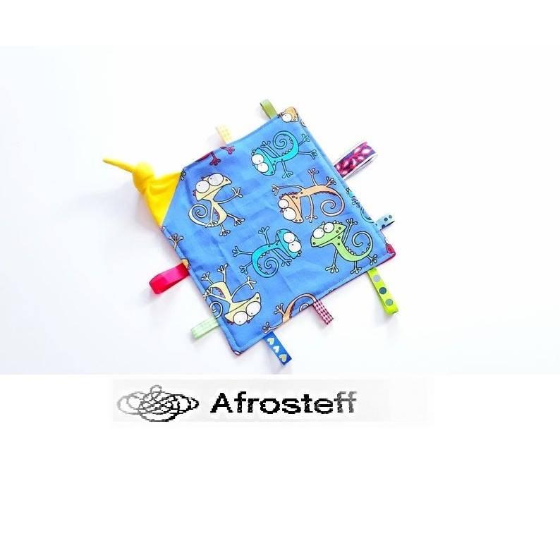 Baby Schnuffeltuch/ Schmusetuch/ Schnullertuch/ Baby Accessoires/ Taufgeschenk/ Greiftuch/ Knistertuch/ Motorik/ Erlebnistuch  Bild 1